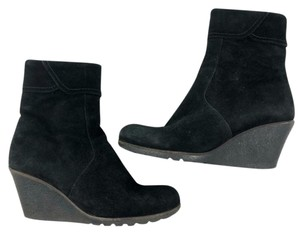 La Canadienne Wedge Winter Suede black Boots