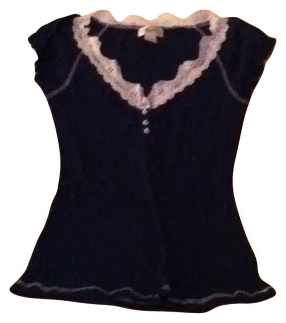 Preload https://item4.tradesy.com/images/belle-du-jour-navy-t-with-lace-neck-accent-blouse-size-12-l-26233-0-0.jpg?width=400&height=650