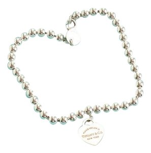 Tiffany & Co. RDC10409- Tiffany & Co. Rubedo Heart Sterling Beaded Bracelet