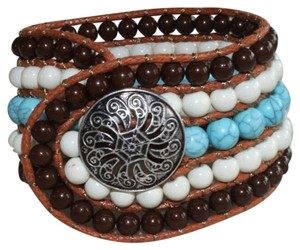 Other Brown/Turquoise/White Beaded Bracelet