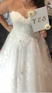 Sottero and Midgley Antique Ivory Tucker Traditional Wedding Dress Size 14 (L)