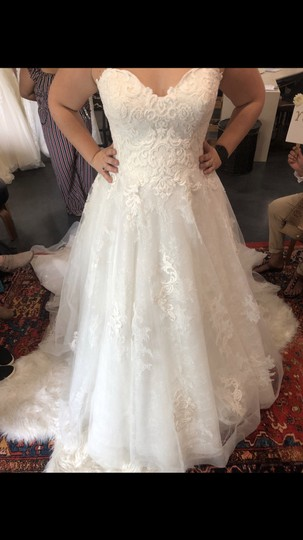 Sottero and Midgley Antique Ivory Tucker Traditional Wedding Dress Size 14 (L) Image 5