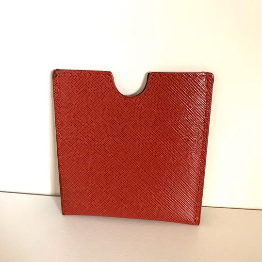 Neiman Marcus red saffiano Italy card case Image 1
