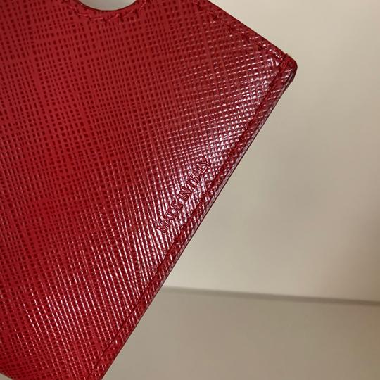Neiman Marcus red saffiano Italy card case Image 2