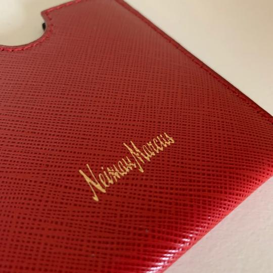 Neiman Marcus red saffiano Italy card case Image 4