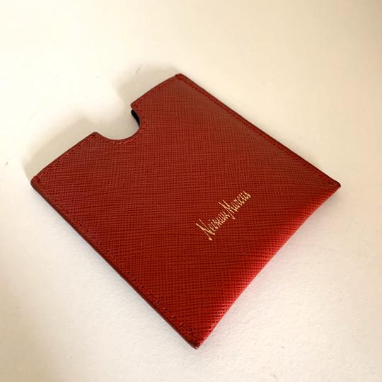 Neiman Marcus red saffiano Italy card case Image 5