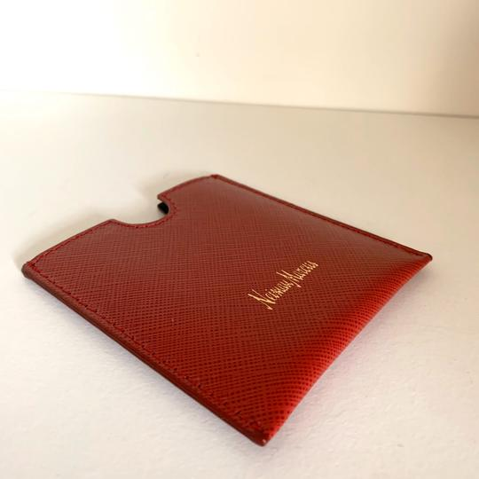 Neiman Marcus red saffiano Italy card case Image 6