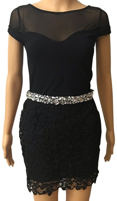 Preload https://img-static.tradesy.com/item/26233145/endless-rose-black-crochet-rhinestones-skirt-size-12-l-32-33-0-1-650-650.jpg