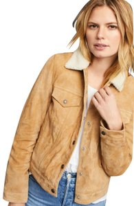 Levi's Trucker Warm Fur camel Leather Jacket