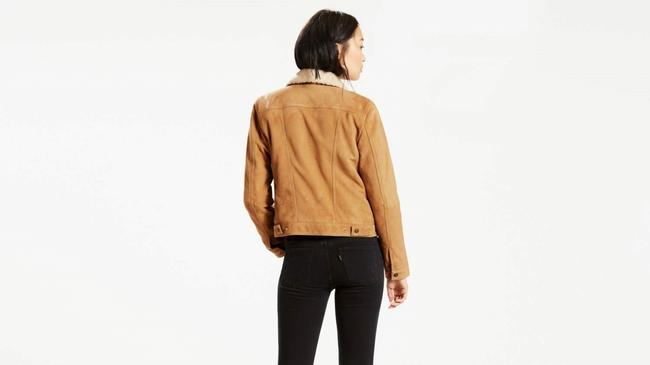 Levi's Trucker Warm Fur camel Leather Jacket Image 2