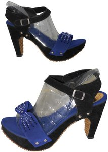 TOTOLAND BLACK AND BLUE Sandals