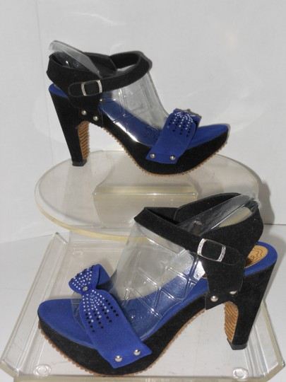 TOTOLAND BLACK AND BLUE Sandals Image 3