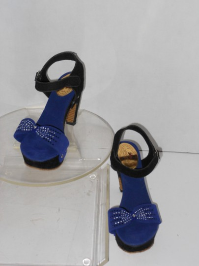 TOTOLAND BLACK AND BLUE Sandals Image 4