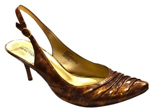 Kenneth Cole Reaction Heel Strappy Slingback Sale Comfortable Bronze Pumps