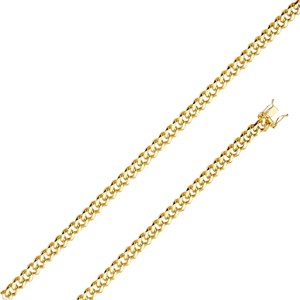 Top Gold & Diamond Jewelry 14K Yellow Gold 6.5mm Hollow Miami Cuban Chain - 26