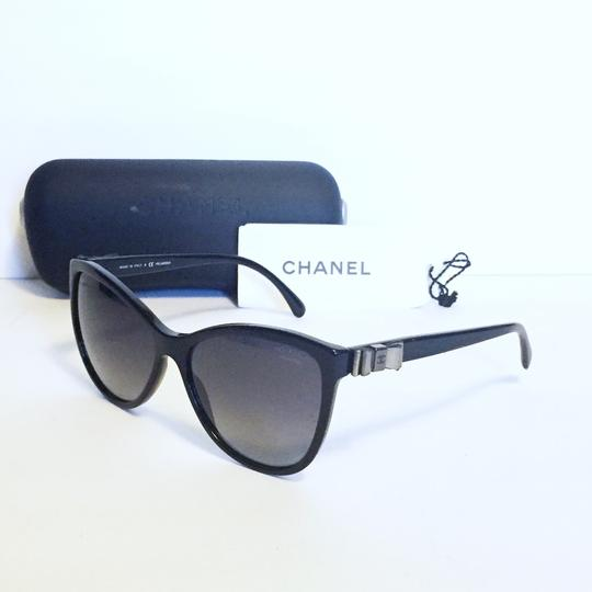 Chanel Chanel 5281 butterfly polarized ribbon black sunglasses with case Image 1