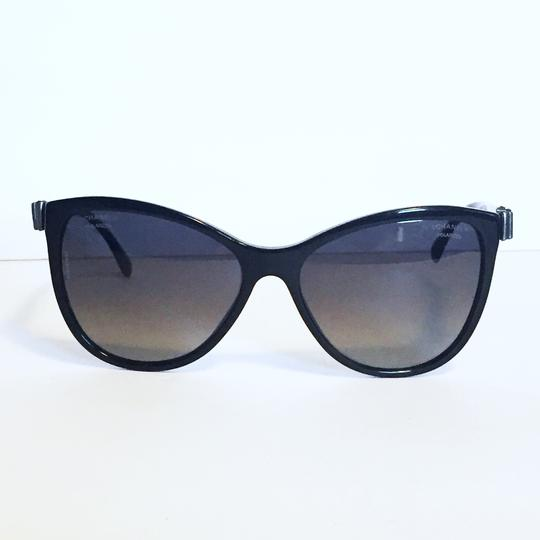 Chanel Chanel 5281 butterfly polarized ribbon black sunglasses with case Image 2