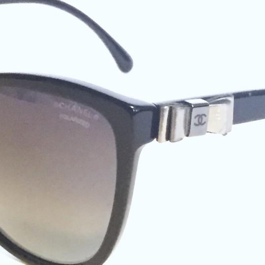 Chanel Chanel 5281 butterfly polarized ribbon black sunglasses with case Image 4