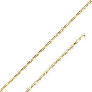 Top Gold & Diamond Jewelry 14K Yellow Gold 3.7mm Hollow Miami Cuban Chain - 24
