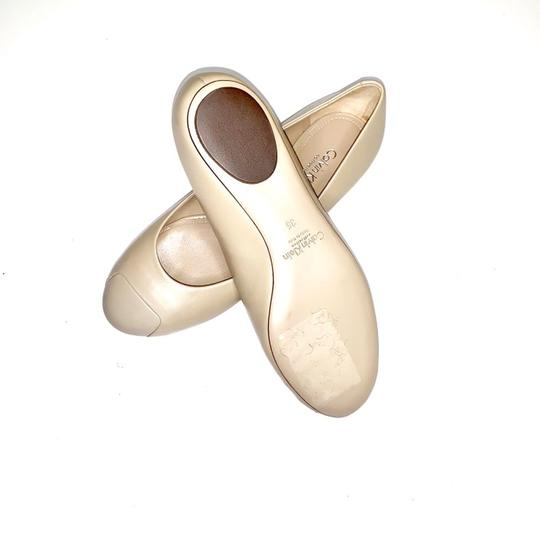 Calvin Klein Collection Alba Ii Made In Italy Nude Flats Image 1