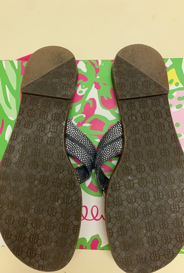 Lilly Pulitzer Navy Sandals Image 3