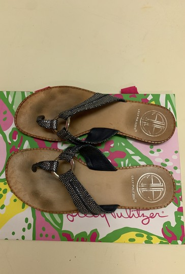 Lilly Pulitzer Navy Sandals Image 5
