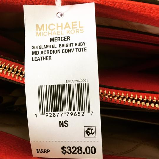 Michael Kors Tote in Ruby Red Image 4