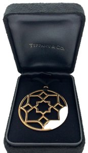 Tiffany & Co. Tiffany & Co. Picasso Zellige 18k Gold Medallion Pendant Cord Necklace