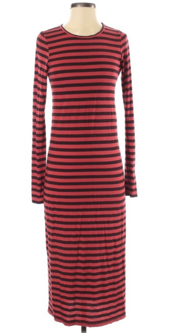 "Item - Red and Black  ""The Breton"" Long Casual Maxi Dress Size 0 (XS)"