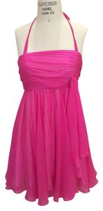 Alice + Olivia Silk Halter Pink Dress