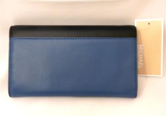e95bd4894225 MICHAEL Michael Kors MICHAEL KORS COLBY TRIFOLD LEATHER CARRYALL WALLET  HERITAGE BLUE/NAVY 32H4GBAE3T NWT