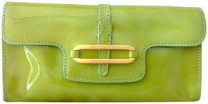 Jimmy Choo Minibags Patent Leather Lightgreen Tulita Candy Apple Green & Teal Clutch