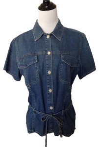 Denim Old School Top Blue