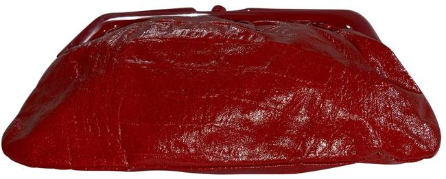 Item - Embossed Red Leather Clutch