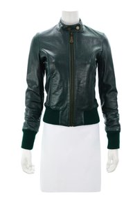 DOMA green Leather Jacket