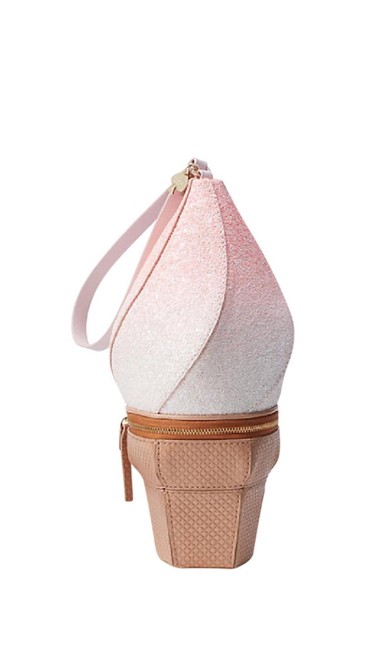 Item - Flavor Of The Month Ice Cream Pink Multi-colored Leather Synthetic Wristlet