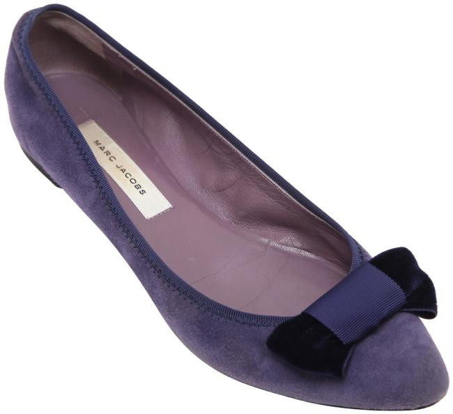 Item - Purple Suede Leather Pointed Toe Heel Bow Flats Size EU 38 (Approx. US 8) Regular (M, B)