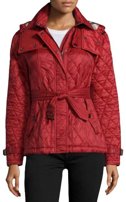 Item - Red Limited Finsbridge Hooded Quilted Short Jacket Size 8 (M)