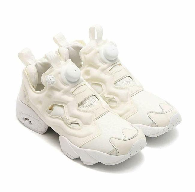 Item - White Instapump Fury Sneakers Size US 11 Regular (M, B)