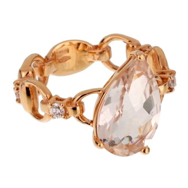 Item - Rose Diamond Topaz Gold Cocktail Ring