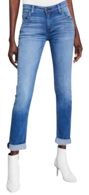 Item - Blue Ashes Medium Wash Bacara Cuffed Cropped Straight Leg Jeans Size 28 (4, S)