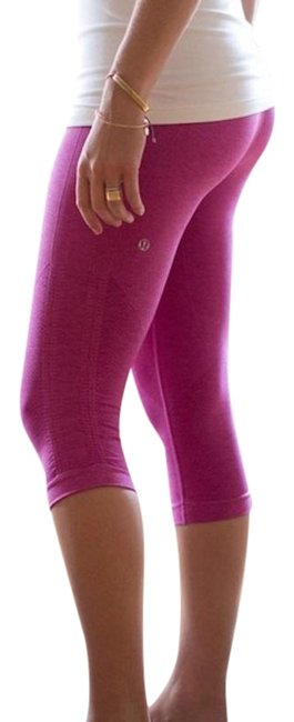Item - Pink Seamless Compression In The Flow Leggings Activewear Bottoms Size 6 (S, 28)