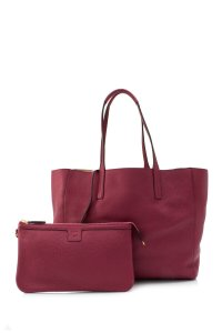 MCM Tote in Red/Gold