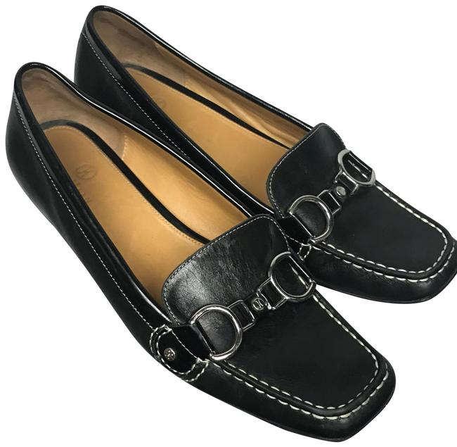Item - Black Nike Air Horse Bit Leather Square Toe Loafers Flats Size US 7.5 Regular (M, B)