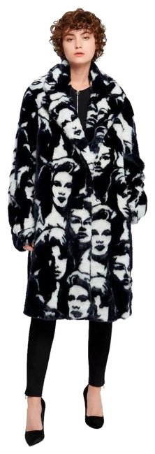 Item - Runway Abstract Faces Free Coat Size 10 (M)