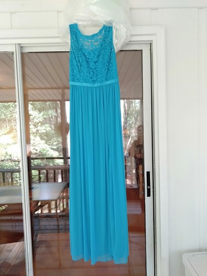 David S Bridal Malibu Blue Lace F19328 Feminine Bridesmaid Mob Dress Size 0 Xs 46 Off Retail
