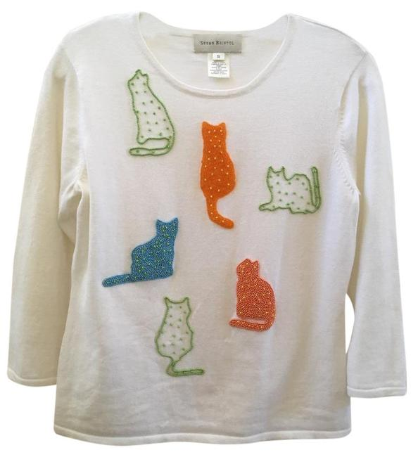 Item - White with Multi Cats Sweater