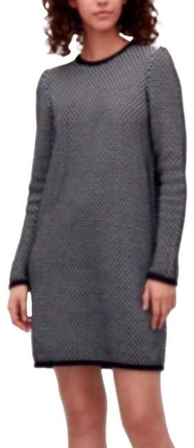 Item - Black and White Sweaterdress Short Casual Dress Size 4 (S)