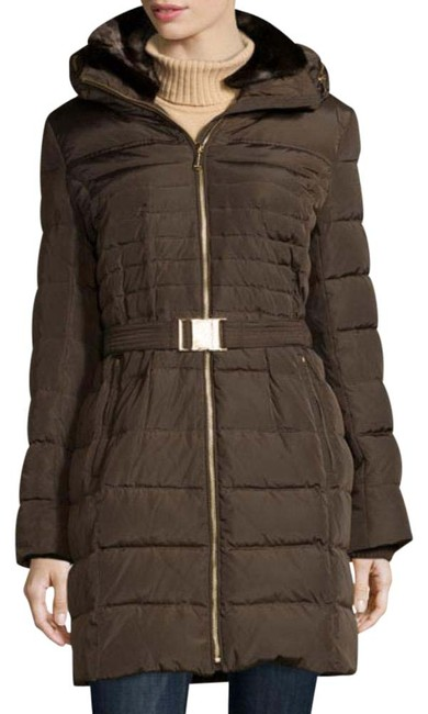 Item - Brown Puffer Belted Coat Size 0 (XS)