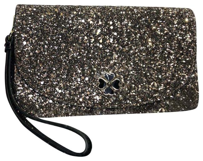 Item - Odette Wristlet Wallet Rose Gold Glitter Fabric Clutch